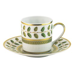 Bernardaud Constance Constance Green  Coffee Cup and Saucer $183.00