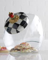 Courtly Check Cookie Jar