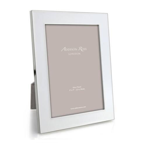 $58.25 White Enamel and Silver 5x7 Frame