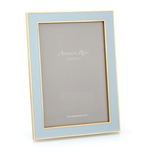 Addison Ross  5x7 Frames Powder Blue Enamel and Gold Frame  $64.00