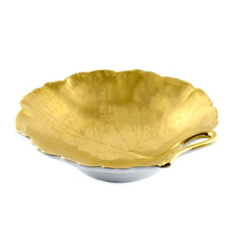 Geranium Gold Leaf Dish 8 in collection with 1 products