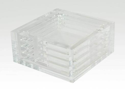 Acrylic Coaster Set Clear collection with 1 products