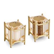 L'Objet  Salt and Pepper Shakers Han Gold $195.00