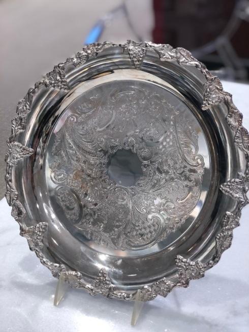 "Michael Feinberg   12"" Round Silver Tray $392.00"