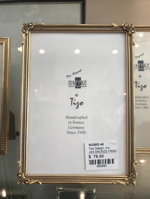 $76.00 4x6 Bronze Frame