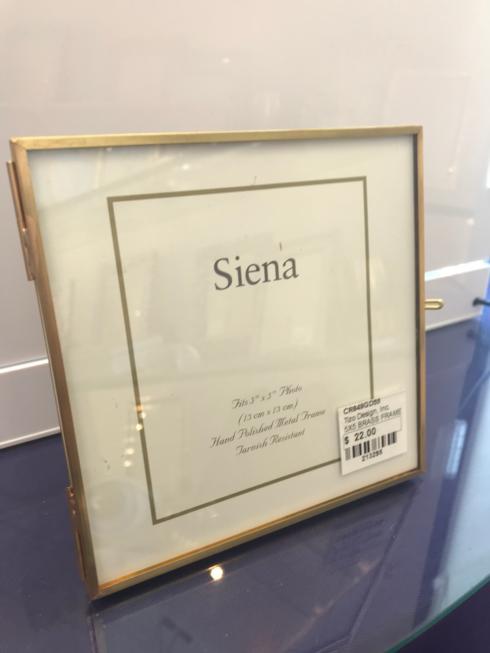 $22.00 Siena Brass Frame 5x5