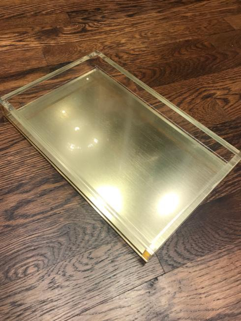 $58.00 Gold and Lucite Tray