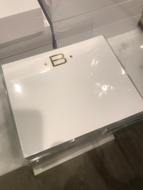 """$42.00 """"B"""" Gold Initial Pad"""