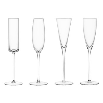 LSA Lulu set of 4 Champagne Flutes collection with 1 products
