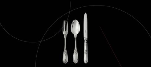 $830.00 Moliere  Silver Dinner Fork