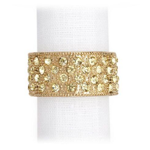 $126.00 Pave Band Napkin Jewels- gold