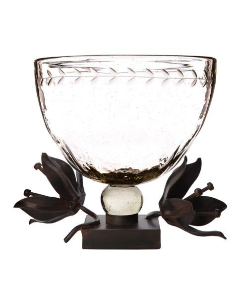 $450.00 Clarity Serving Bowl with Forged Passion Flower Stand