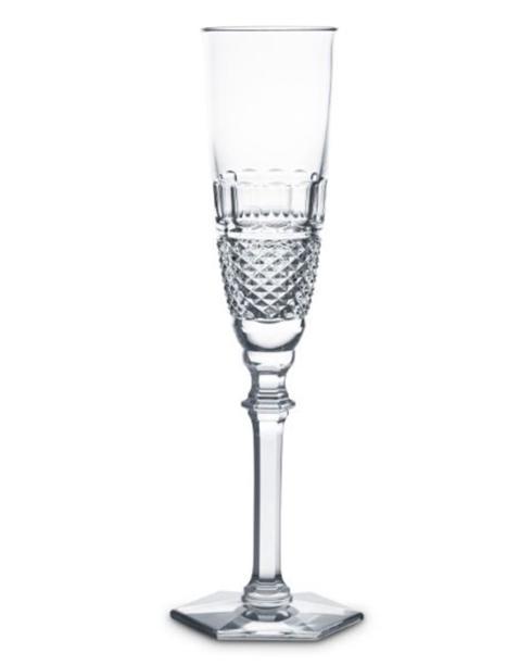 Baccarat   S/2 Diamant cham flute $380.00