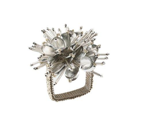 Burst Napkin Ring In Silver collection with 1 products