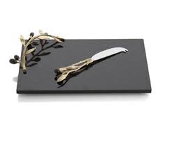 Olive Branch Gold Cheese Board and Knife collection with 1 products