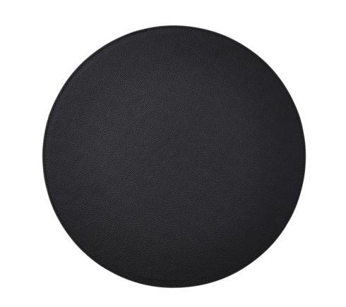 Kim Seybert Shagreen Black  Round Placemats Set of 4 collection with 1 products