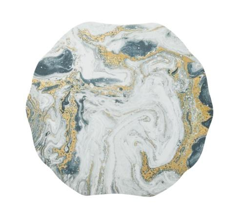 Cosmos Placemat In Ivory, Gold & Silver collection with 1 products