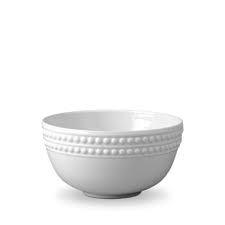 L'Objet Perlee White  Perlee White Cereal Bowl $50.00