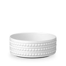 L'Objet Perlee White  Perlee White Deep Bowl - Medium $60.00