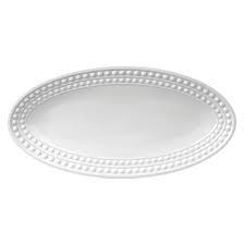 L'Objet Perlee White  Perlee White Oval Platter - Large $394.00