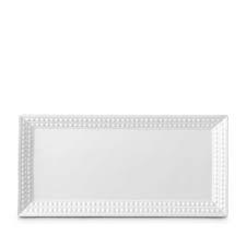 L'Objet Perlee White  Perlee White Rectangular Platter $190.00