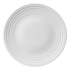 L'Objet Perlee White  Perlee White Round Platter $194.00
