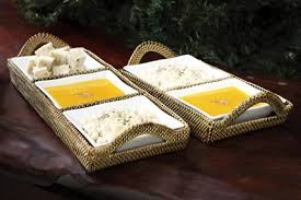 $167.00 Rectangular Tray with 3 Dividers