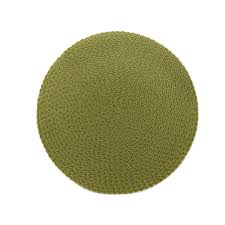 Avo Round Placemat-Green collection with 1 products