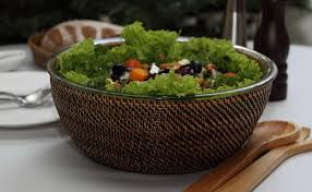 $92.00 Large Salad Bowl with Glass Insert