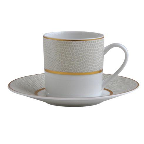 Bernardaud  Sauvage Or Coffee Cup and Saucer $90.00