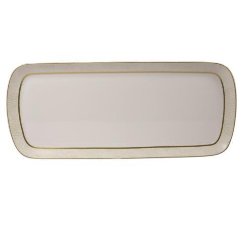 "Bernardaud  Sauvage Or Cake Rectangular Platter 15"" $279.00"