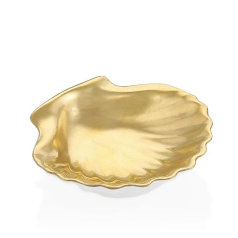 Scallop Shell Gold Leaf Dish