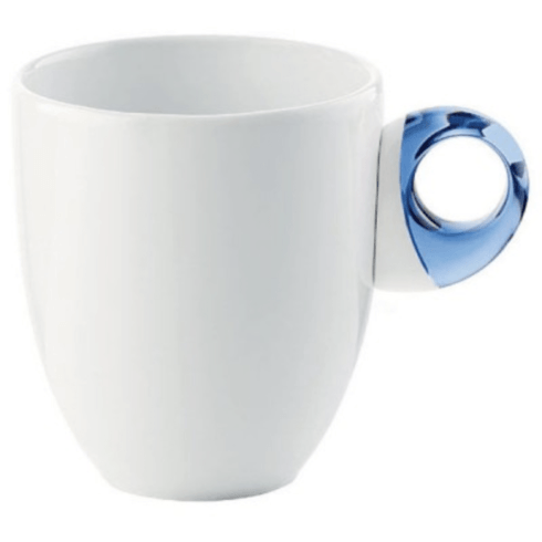 PS The Letter Exclusives   Guzzini Porcelain Mug with Blue Handle  $14.00