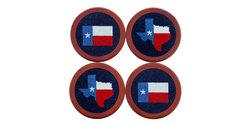 $75.00 Texas Flag Coaster Set