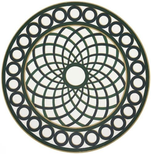 PS The Letter Exclusives   Nicolette Mayer Treillage Green Placemat  $25.00