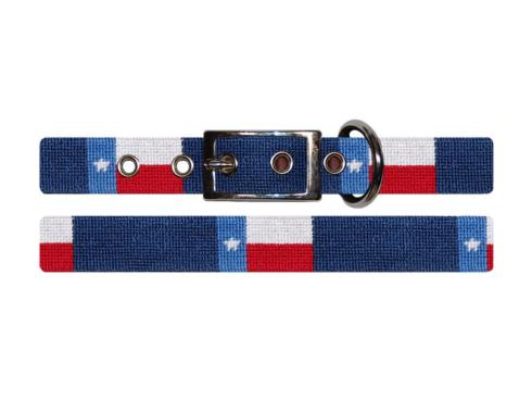 $75.00 Texas State Flag Dog Collar