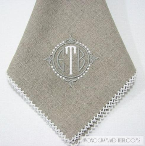 $42.00 Pewter Natural Napkins