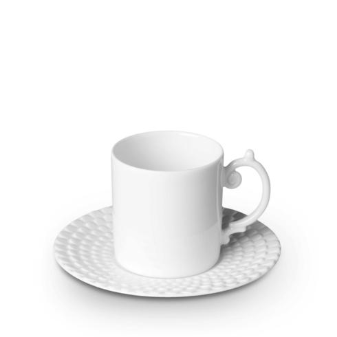 L'Objet Aegean White Espresso cup and Saucer $44.00
