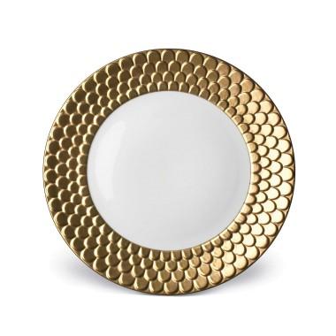 L'Objet Aegean Gold Dinner Plate $350.00