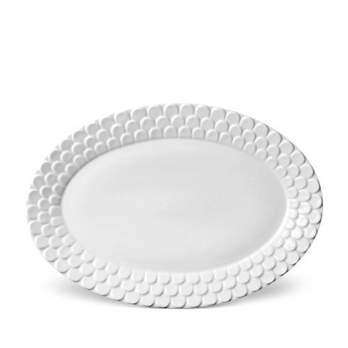 L'Objet Aegean White Oval Platter $176.00
