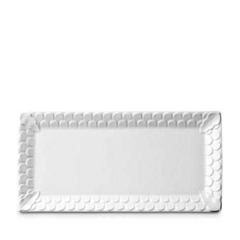 L'Objet Aegean White Rectangular Platter $176.00