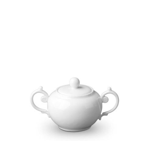 L'Objet Aegean White Covered Sugar Bowl $86.00
