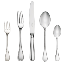 Christofle  Albi Silver Plate 5 Piece Place Setting $505.00