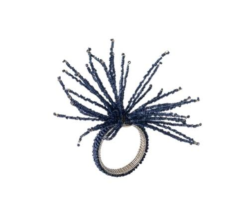 Spider Bead Burst Napkin Ring In Navy collection with 1 products