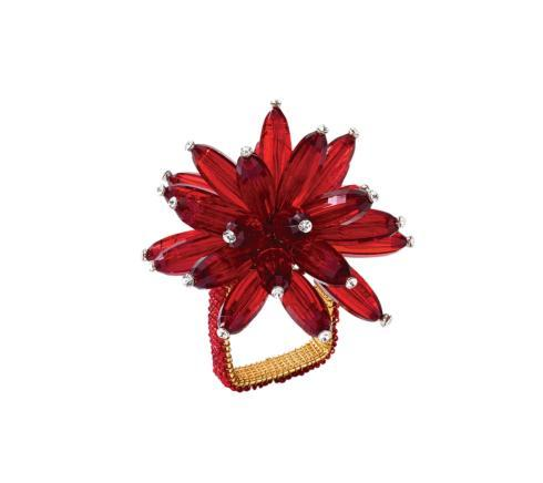 Kim Seybert Red Constellation Napkin Ring collection with 1 products