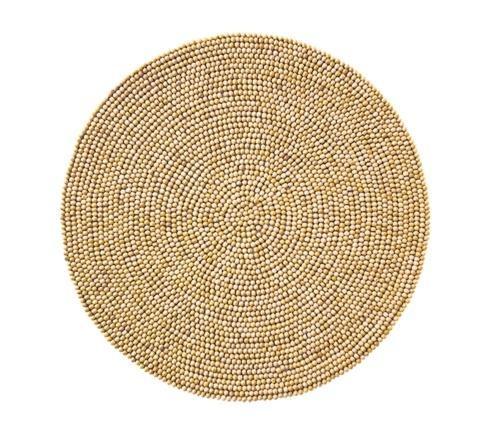 Wood Round Placemat In Natural  collection with 1 products