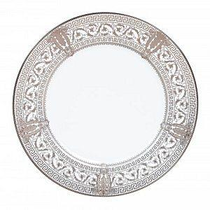 $260.00 Haviland USA Inc. Salon Murat White and Platinum Dinner Plate