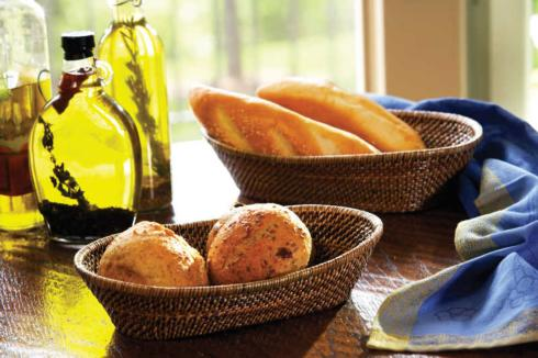 $33.00 Oval Bread Basket with Tubes - Large