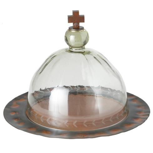 $518.00 H\' BLessing GLass Cake Dome and Platter