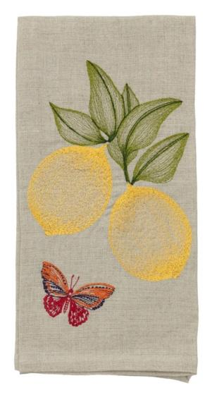 Lemon and butterfly dinner napkin collection with 1 products